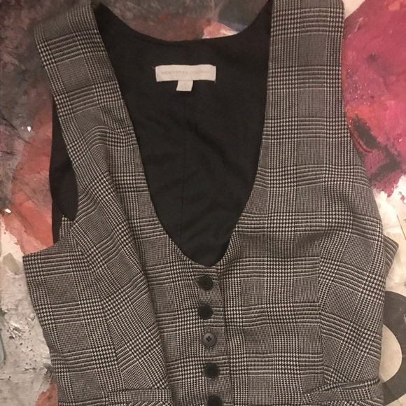 New York & Company Jackets & Blazers - New York and Company Black and Gray Striped Vest